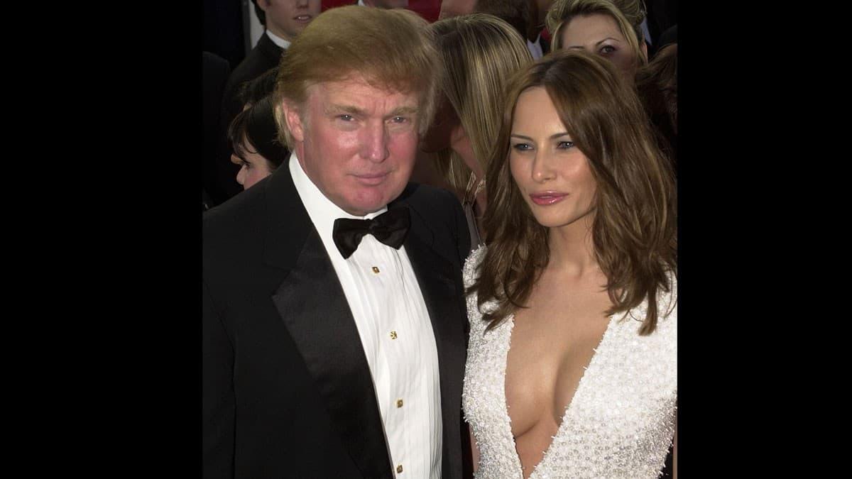 Melania Trump's deep plunge