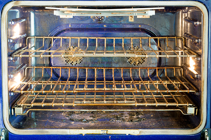 Clean your oven, hands off