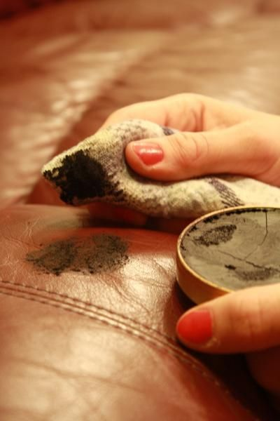 Use Shoe Polish To Get Rid Of Scratches On Leather Furniture
