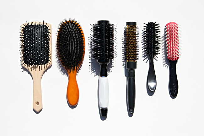 Salvage Old Hair Brushes With Shampoo
