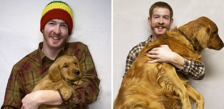 20 Heartwarming Then Now Photos Of Pets And Their Owners